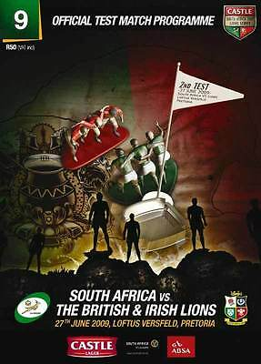 South Africa v British & Irish Lions 27 Jun 2009 - 2nd Test RUGBY PROGRAMME