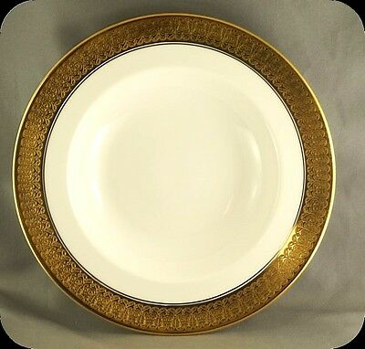 Royal Crown Derby St George  Rimmed Soup Bowls Dish (Eight available)