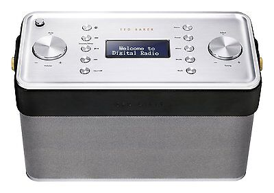 Ted Baker London Finisterre DAB/DAB /FM/Bluetooth and NFC Radio - Brushed Silver