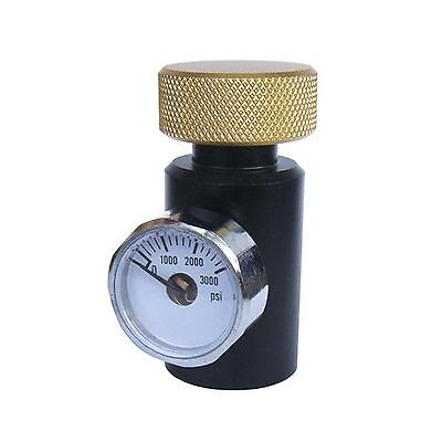 New Paintball CO2 ASA Adapter Fill Station Remote with 3000PSI Gauge