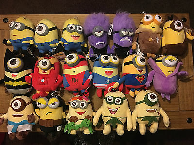 Despicable Me Minions Clearance Plush -Choice of 18 Different Plushes £5 or less