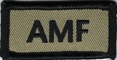 Coyote Black AMF Adios Mother F@&ker Morale Patch VELCRO® BRAND Hook Fastener Co