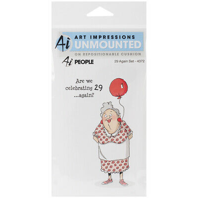 """""""Art Impressions People Cling Rubber Stamps 7""""""""X4""""""""-29 Again"""""""