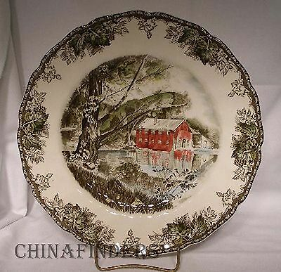 JOHNSON Brothers FRIENDLY VILLAGE Large Dinner Plate - The Old Mill - 10-1/2""