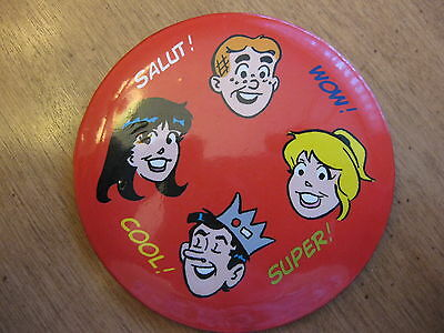 Archie And Friends Betty  Veronica Jughead Button Pin