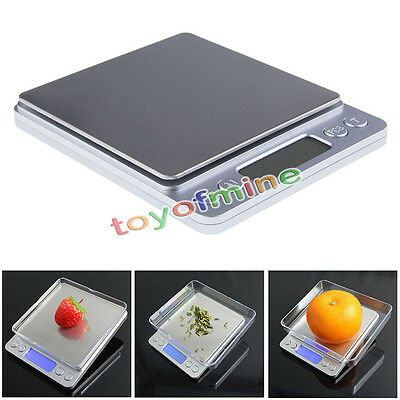 Electronic 0.1g-2000g Mini LCD Digital Gold Jewelry Food Kitchen Weighing Scale