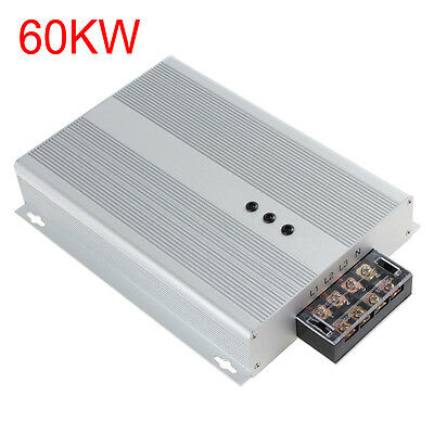 60KW AC 90-400V Energy Saver 3 Phases Industrial Factory Power Saving Box Silver