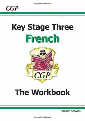KS3 French Workbook with Answers: Workbook Pt. 1 & 2 by CGP Books Paperback The