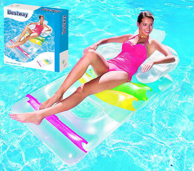 Bestway Inflatable Swimming Pool Air Lounge Designer Fashion Chair Lounger Lilo