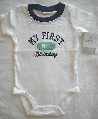 Nwt Carters My First Birthday Top Shirt 12 18 Months Available Short Sleeve