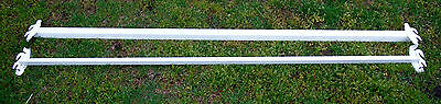 "Set of Two Double Hook Steel Bed Rails - Queen  or King Size  83"" in length"