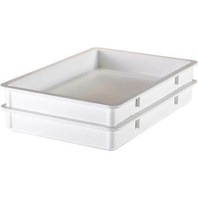 "Cambro Polypropylene Pizza Dough Boxes, 3"" Deep, 6Pk White Db18263P-148"