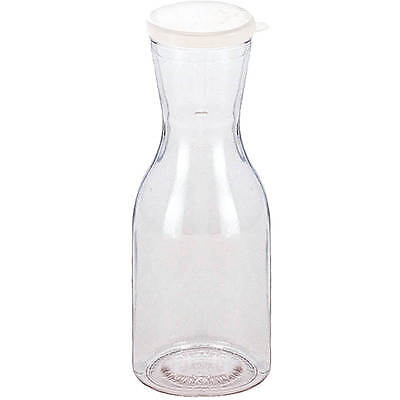 Cambro 1/4L Beverage Decanters With Lids, 12Pk Clear Ww250Cw-135