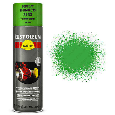 x1 Ultra-High Coverage Rust-Oleum Yellow Green Spray Paint Hard Hat RAL 6018