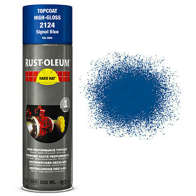 x1 Ultra-High Coverage Rust-Oleum Signal Blue Spray Paint Hard Hat RAL5005