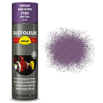 x1 Ultra-High Coverage Rust-Oleum Red Lilac Spray Paint Hard Hat RAL 4001