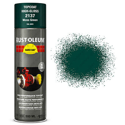 x1 Ultra-High Coverage Rust-Oleum Moss Green Spray Paint Hard Hat 500ml RAL 6005