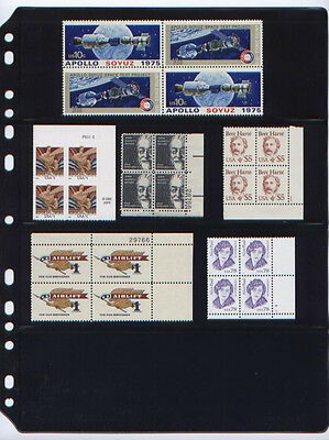 ANCHOR 10 Stock Pages 4 S (4-Rows) for Plate Block & S/S stamp (FREE SHIPPING).