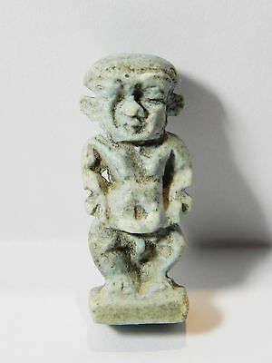 Zurqieh - Q22- Ancient Egypt. Nice Faience Amulet Of Pataikos. 600 B.c