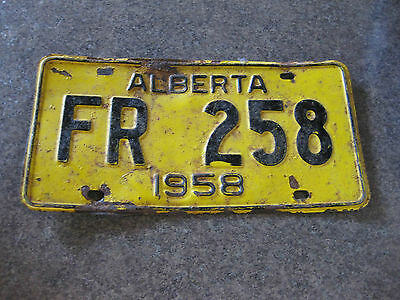 Licence Plate Alberta 1958