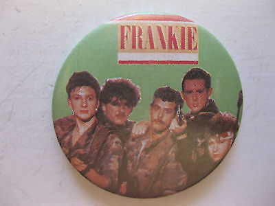 Frankie BANALI goes to Hollywood  rare vintage button pin