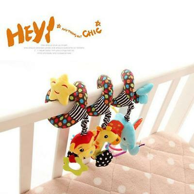 Star Baby Activity Spiral Stroller/Pram Crib Bed Education Musical Toy Rattle YZ
