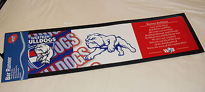 Western Bulldogs AFL Club Song Printed Rubber Backed Bar Runner Mat New