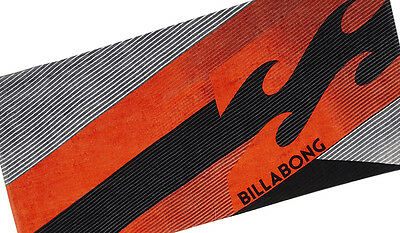 "Brand New + Tag Billabong ""slice"" Large Velour Beach Towel Swim Surf Pool Black"