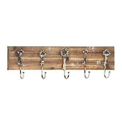 Woodland Import 55462 Modern Wood Metal Wall Hook with Natural Texture