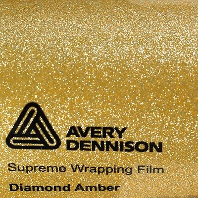 (23,02€/m²) Avery Supreme Wrapping Film Glossy AMBER DIAMOND SWF Folie 152cm