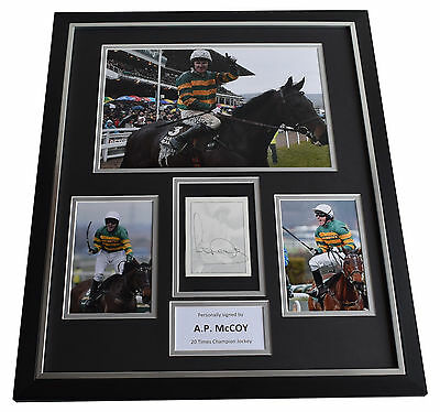 Tony A P McCoy SIGNED Framed Photo Autograph Huge display Horse Racing AFTAL COA