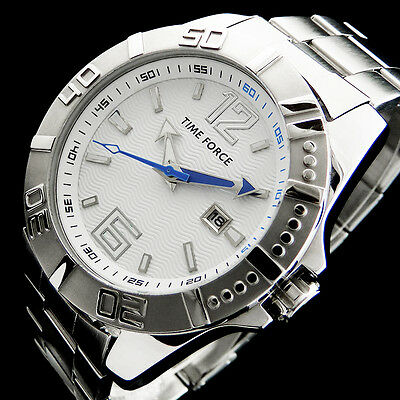 Time Force Diver 200M Big-Size Sport Wave-Dial Herren Uhr + Datum Uvp 109,00 Eur