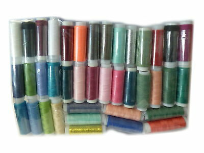 Pack of 39 Assorted Colour Polyester Sewing Threads - By TRIXES