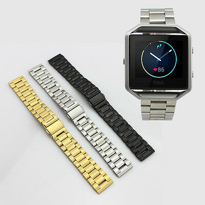 Stainless Steel Metal Watch Band Bracelet Strap Solid Links for Fitbit Blaze