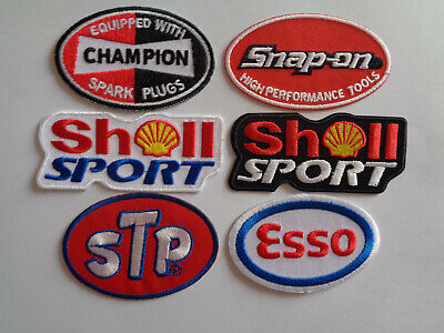 Wholesale 6 Embroidered Motor Sports Pit Crew Patches Iron / Sew On Mechanic