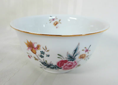 American Avon Heirloom Independence Day 1981 Bowl Floral w/ Dragonfly