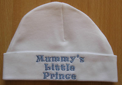 Mummy's Little Prince Embroidered Baby Boy Hat
