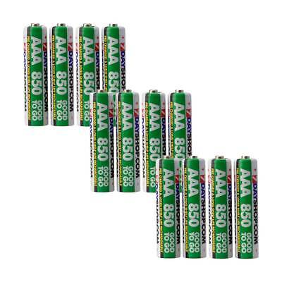 12 AAA 7dayshop 850mAh Good to Go PRE STAY CHARGED NiMH Rechargeable Batteries