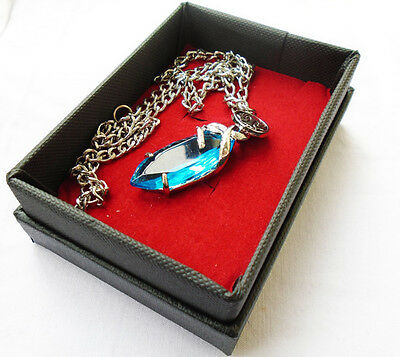FINAL FANTASY X-2 Cosplay X Blue Stone Necklace In box Pendant