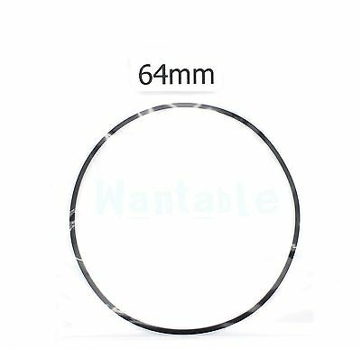64mm Rubber Drive Belt Replacement Part for Cassette Tape Deck Recorder