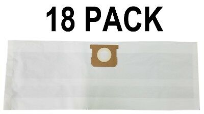 18 Vacuum Filter Bags for Shop Vac 90661 Type E  5 - 8 Gal 906-61-00