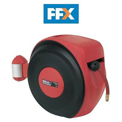 Sealey SA821 Auto Rewind Control Air Hose Reel 10mtr Ø10mm ID - Rubber Hose