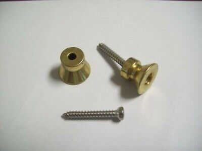 NEW - Buttons For Dunlop Traditional Strap Lock System, BRASS FINISH