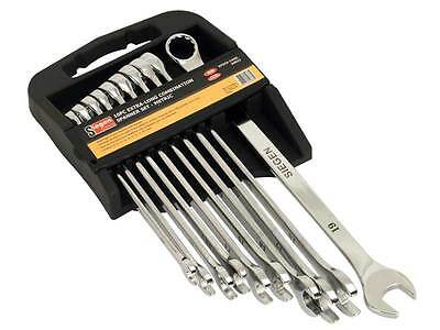 Siegen S0832 Combi Spanner Set 10pc Extra-Long Metric