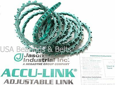 Accu Link Size 3/L 3/8  x 4 Linear Adjustable Linking Belting 3L Grn