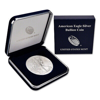 2015 $1 American Silver Eagle BU In US Mint Gift Box