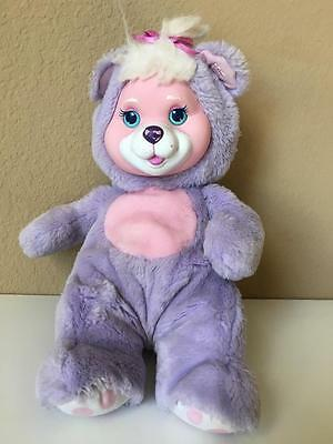 Vintage 1992 90's Hasbro Puppy Surprise purple BABY CUB teddy bear plush