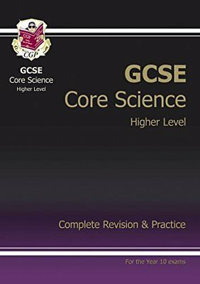 GCSE Core Science Complete Revision and Practice, CGP Books Paperback Book The