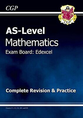 AS-Level Maths Edexcel Complete Revision & Practice by CGP Books Paperback Book