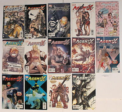 AGENT X Marvel Comics 2002-2003 Taskmaster DEADPOOL Gail Simone #1-14 VF